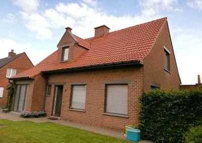 Ontmossen en coating dak - Kortrijk - na